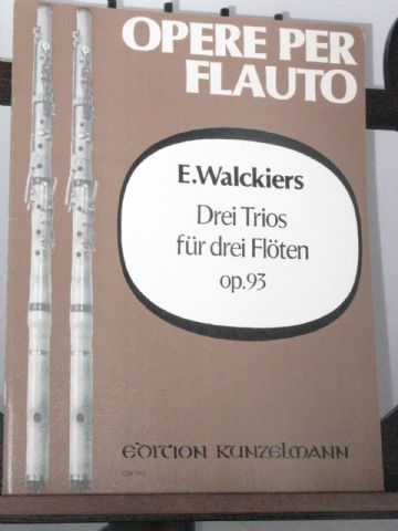 Walckiers E - 3 Trios for 3 Flutes Op 93